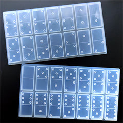 Dominos Silicone Mold (28 Cavity) | Make Your Own Domino Tiles | Dominoes Game Mould for Resin Craft (23mm x 48mm)