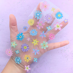 Watercolor Flower Stickers | Floral Seal Sticker | Clear PVC Sticker for Resin Art Decoration | Scrapbook Supplies