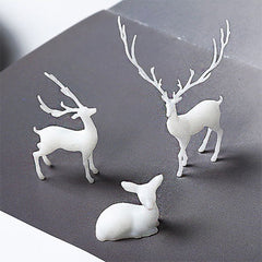 Miniature Deer Resin Inclusion | 3D Forest Animal Embellishment for Resin Art | Resin Jewelry Supplies (2 pcs / 10mm x 8mm)