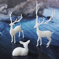 Forest Animal Resin Inclusion | Small Deer Embellishment for Resin Art | Terrarium Craft Supplies (2 pcs / 19mm x 15mm)