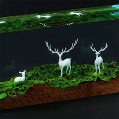 3D Deer Embellishment for Resin Jewelry Making | Forest Animal Resin Inclusions | Resin Craft Supplies (2 pcs / 15mm x 12mm)