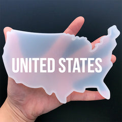 United States Map Silicone Mold for Resin Craft | USA Mold | Resin Coaster Mould | Home Decoration (151mm x 108mm)