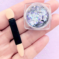 Iridescent Galaxy Pigment Flakes | Color Shifting Paint | Chameleon Chrome Pigment | Resin Crafts (0.2 gram / Blue)