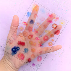 Fireworks Clear Film Sheet | Firework Festival Embellishments | Colorful Resin Inclusions | UV Resin Craft Supplies