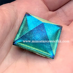 Iridescent Chameleon Pigment Powder | Shimmer Color Shifting Glitter | Resin Craft Supplies (Green Blue / 0.5 gram)