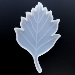 Birch Leaf Silicone Mold | Small Resin Coaster DIY | Home Decoration Craft | Resin Art Supplies (87mm x 132mm)