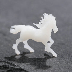 3D Horse Resin Inclusion | 3D Printed Animal Figurine for Resin Art | Filling Material for Resin Craft (1 piece / 19mm x 16mm)
