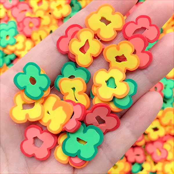 Bell Pepper Polymer Clay Slices | Miniature Food Craft | Faux Toppings | Kawaii Craft Supplies (Red, Green and Yellow Mix / 10 grams)