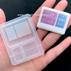 Cosmetic Palette Silicone Mold | Make Your Own Eyeshadow | Eye Makeup Beauty Mould | Resin Craft Supplies (43mm x 33mm)