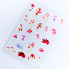 Red Spide Lily Clear Film Sheet | Equinox Flower Embellishments | Floral Resin Inclusions | UV Resin Fillers