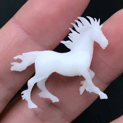 3D Printed Horse Figurine for Resin Art | 3D Animal Resin Inclusion | Resin Jewellery DIY (1 piece / 29mm x 25mm)