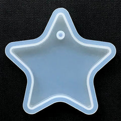 Big Star Charm Silicone Mold | Large Star Pendant Mould | UV Resin Jewelry Supplies | Epoxy Resin Mold (69mm x 66mm)
