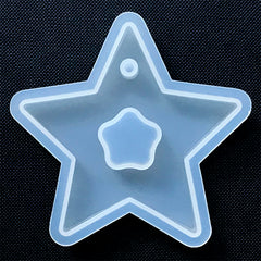 Large Hollow Star Pendant Silicone Mold | Big Star Charm Mould | UV Resin Jewelry DIY | Epoxy Resin Supplies (69mm x 67mm)