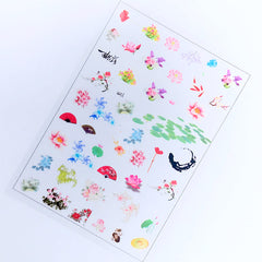 Flower Clear Film Sheet in Oriental Style | Floral Embellishments | Filling Materials for Resin Art