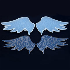 Large Pegasus Wings Silicone Mold (Set of 2) | Angel Wing Mould | Mahou Kei Embellishment DIY | Resin Craft Supplies (117mm x 65mm)