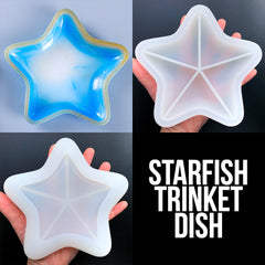 Starfish Trinket Dish Silicone Mold for Resin Craft | Seashell Tray Mould | Star Plate Mold | Marine Home Decor DIY (148mm x 140mm)