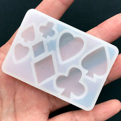 DEFECT Playing Card Suit Soft Mold (8 Cavity) | Poker Suits Silicone Mold | Alice in Wonderland Mold | UV Resin Art | Epoxy Resin Mould