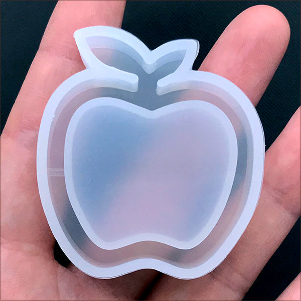 Apple Shaker Charm Silicone Mold | Resin Jewelry Making | Kawaii Phone Case Decoden Supplies (42mm x 45mm)