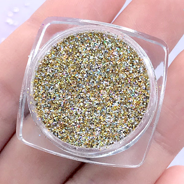 Iridescent Gold And Silver Glitter Powder Holographic Glitter Glit Miniaturesweet Kawaii Resin Crafts Decoden Cabochons Supplies Jewelry Making
