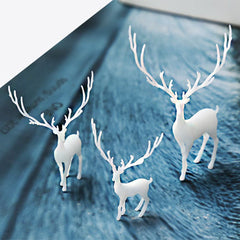 Miniature Forest Animal Resin Inclusion | 3D Deer Embellishment for Resin Jewellery Making | Terrarium Art Supplies (1 piece / 13mm x 20mm)
