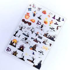 Halloween Clear Film Sheet | Creepy Cute Resin Inclusions | Kawaii Goth Embellishments | Resin Crafts