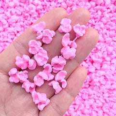 Pink Popcorn Embellishments | Fake Snack Jewellery DIY | Faux Food Supplies | Kawaii Decoden | Phone Case Decoration (10 grams / Pink)