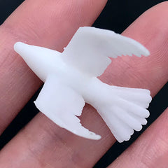 3D Printed Dove Figurine for Resin Craft | Bird Resin Inclusions | Filling Materials for Resin Art (1 piece / 19mm x 32mm)