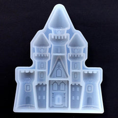 Fairytale Castle Silicone Mold | Clear Mold for UV Resin Art | Fairy Tale Embellishment | Epoxy Resin Mould | Kawaii Craft Supplies (11cm x 14cm)
