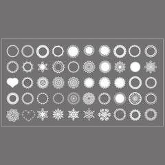 White Lace Doilies Sticker Flakes | Clear PVC Stickers | Embellishments for Resin Art | Scrapbooking Supplies (Set of 50 pcs)