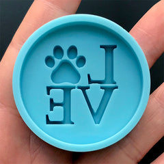 Love Paw Phone Grip Silicone Mold | Animal Lover  Phone Decoration | Kawaii Resin Art Supplies (42mm)