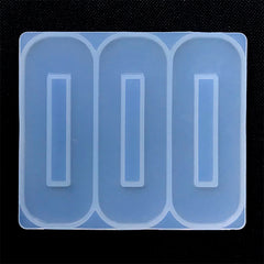 Hair Clip Silicone Mold (3 Cavity) | Rounded Rectangular Mould | Hair Accessories DIY | Resin Jewellery Supplies (24mm x 66mm)