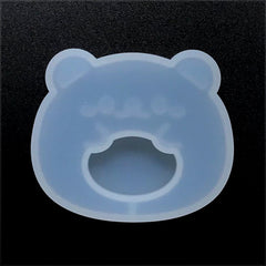 Kawaii Bear Shaker Charm Silicone Mold | Cute Animal Mould | Resin Jewellery Making (48mm x 41mm)