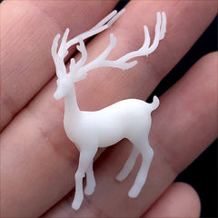 Reindeer Resin Inclusion | Fairytale Animal Embellishment for Resin Art | Terrarium Jewellery Supplies (1 piece / 21mm x 31mm)