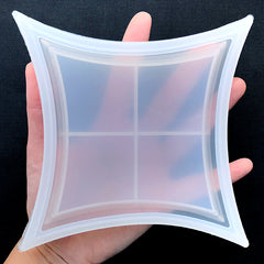 Square Trinket Dish Silicone Mold | Resin Trinket Tray Making | Epoxy Resin Mould | UV Resin Mold Supplies (147mm)