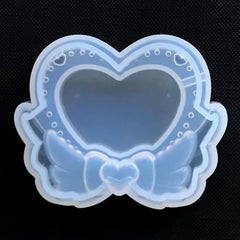 Magical Heart Shaker Mold | Kawaii Resin Shaker Charm Silicone Mould | Shake Shake Decoden Cabochon DIY (62mm x 50mm)