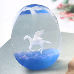 3D Pegasus Embellishment for Resin Art | Flying Horse Resin Inclusion | Mythical Creature Figurine (1 piece / 35mm x 26mm)