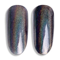 Holo Pigment Powder (Black) | Rainbow Holographic Glitter Dust | Resin Coloring | Nail Decoration (0.2 gram)
