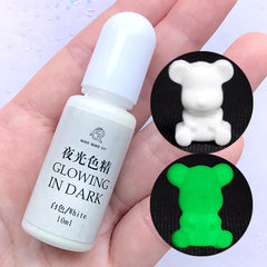 Glow in the Dark Pigment | Epoxy Resin Colorant | UV Resin Dye | Resin Colouring | Resin Art Supplies (White / 10ml)
