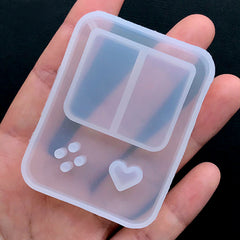 Handheld Game Console Silicone Mold | Kawaii Resin Shaker Charm Making | Decoden Cabochon Mold (44mm x 59mm)
