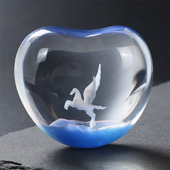 Flying Horse Figurine for Resin Jewelry DIY | 3D Mythical Creature Embellishment | Pegasus Resin Inclusion (1 piece / 19mm x 29mm)