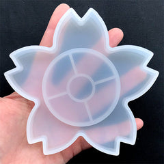 Sakura Trinket Dish Silicone Mold | Cherry Blossom Tray Mold | Floral Tray Making | Flower Plate Mold | Epoxy Resin Crafts (112mm x 106mm)