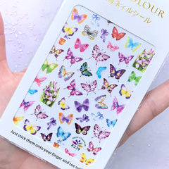 Colorful Butterfly Nail Art Sticker | Spring Embellishment for Resin Crafts | Nail Decoration