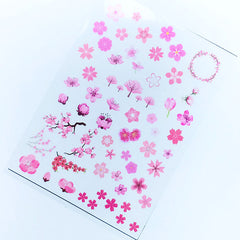 Cherry Blossom Clear Film | Sakura Embellishments | Flower Resin Inclusions | UV Resin Filler | Resin Craft Supplies
