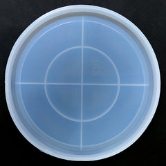 Big Round Plate Silicone Mold | Large Petri Dish Mould | Trinket Tray Mold | Home Decor with Resin (187mm)