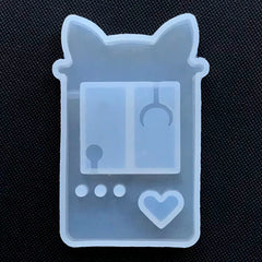 Claw Crane Arcade Game Machine Shaker Charm Silicone Mold | Kawaii Toy Crane Decoden Resin Shaker Cabochon DIY (37mm x 64mm)