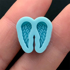 Mini Angel Wings Silicone Mold (2 Cavity) | Resin Earrings Making | Shake Bits DIY | Resin Crafts (5mm x 12mm)