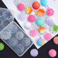 Japanese Confection Silicone Mold (6 Cavity) | Wagashi Mold | Fake Sweet Making | Faux Food DIY | Resin Craft Supplies (25mm)