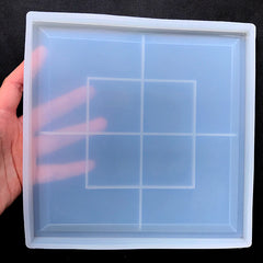 Large Square Trinket Tray Silicone Mold | Petri Dish Mold | Big Plate Mould | Epoxy Resin Craft Supplies | Home Decor (190mm)