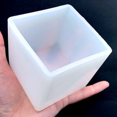 DEFECT 65mm Cube Silicone Mold | Extra Large Square Mold | Paperweight Mold | Soft Clear Mould for UV Resin | Epoxy Resin Art Supplies