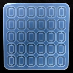 Rectangle Octagon Connector Charm Silicone Mold (30 Cavity) | Epoxy Resin Jewelry Making | Clear Mould for UV Resin (22mm x 28mm)